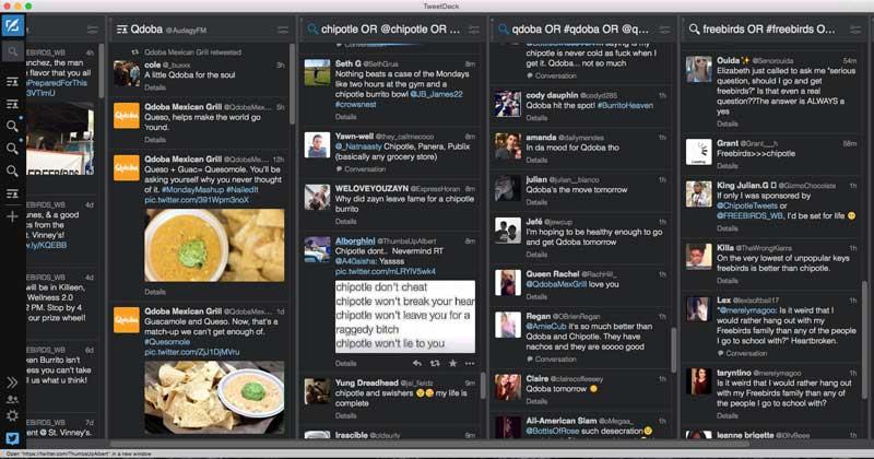 Tweetdeck setup for competitive intelligence