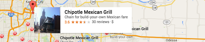 Using Google to find geo coordinates for restaurants