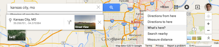 Grabbing the geo coordinates from Google Maps