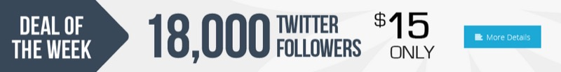 Banner ad for buying Twitter followers