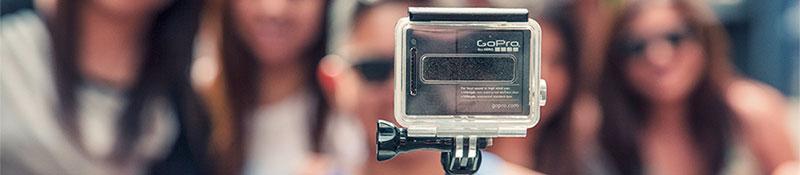 Image of GoPro camera with background boca