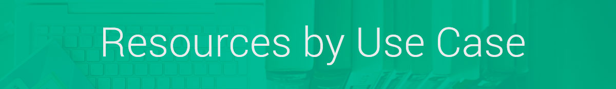 Banner for the use cases section