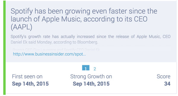 spotify relevance to apple music on social media