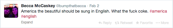 Racist tweet about Coca Cola America The Beautiful commercial