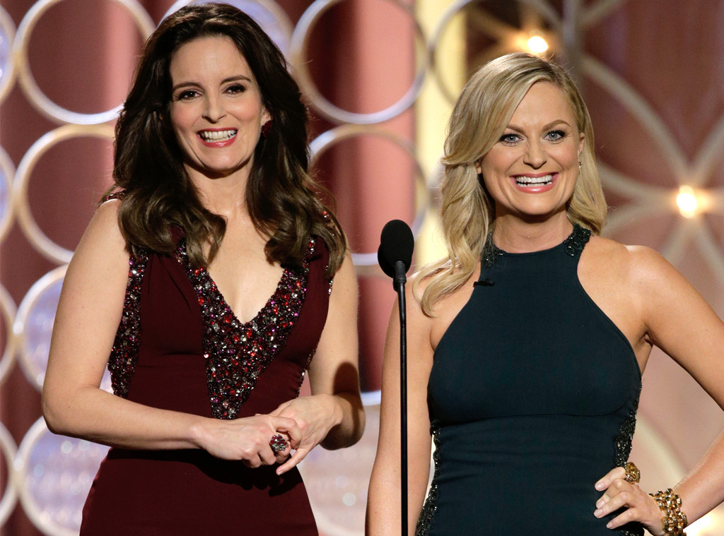 tina fey and amy poehler at 71st golden globe awards