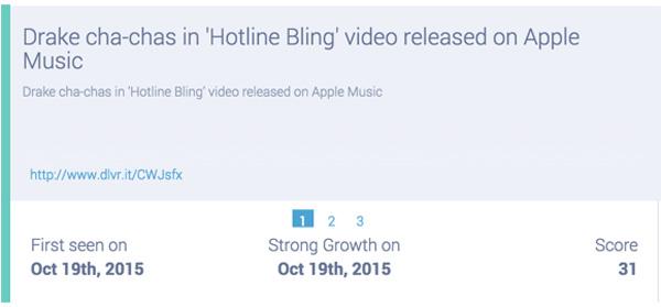 drake releases hotline bling on apple music