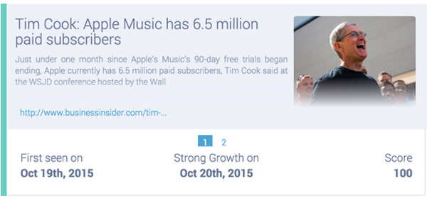 tim cook announces 6.5m paying users on Apple Music
