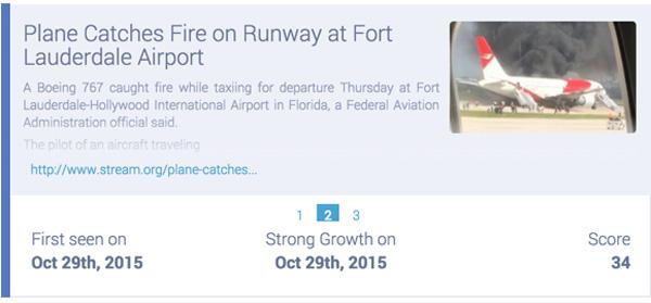 boeing passenger jet catches fire on Florida runway