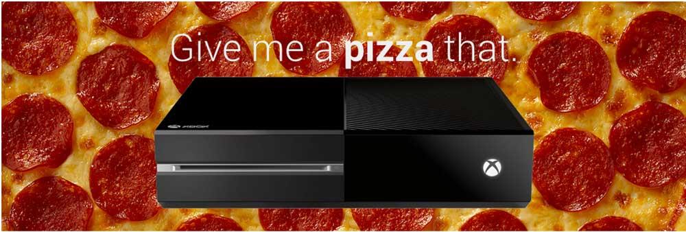 Order Pizza through Xbox
