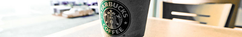 Starbucks latte on a table