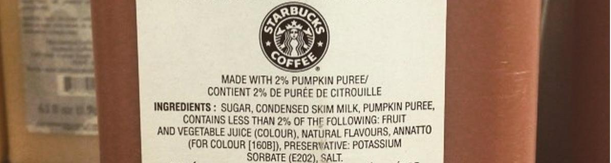 Pumpkin Spice Latte Flavor Ingredients