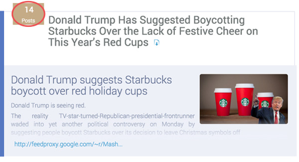 Donald Trump suggests boycotting Starbucks over red cups