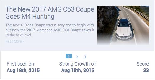 Mercedes 2017 C63 caused a big stir