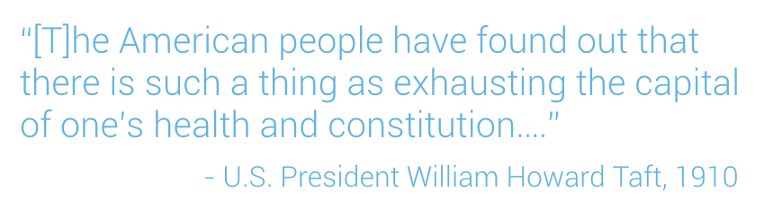 US President Taft on American's Need for Vacation