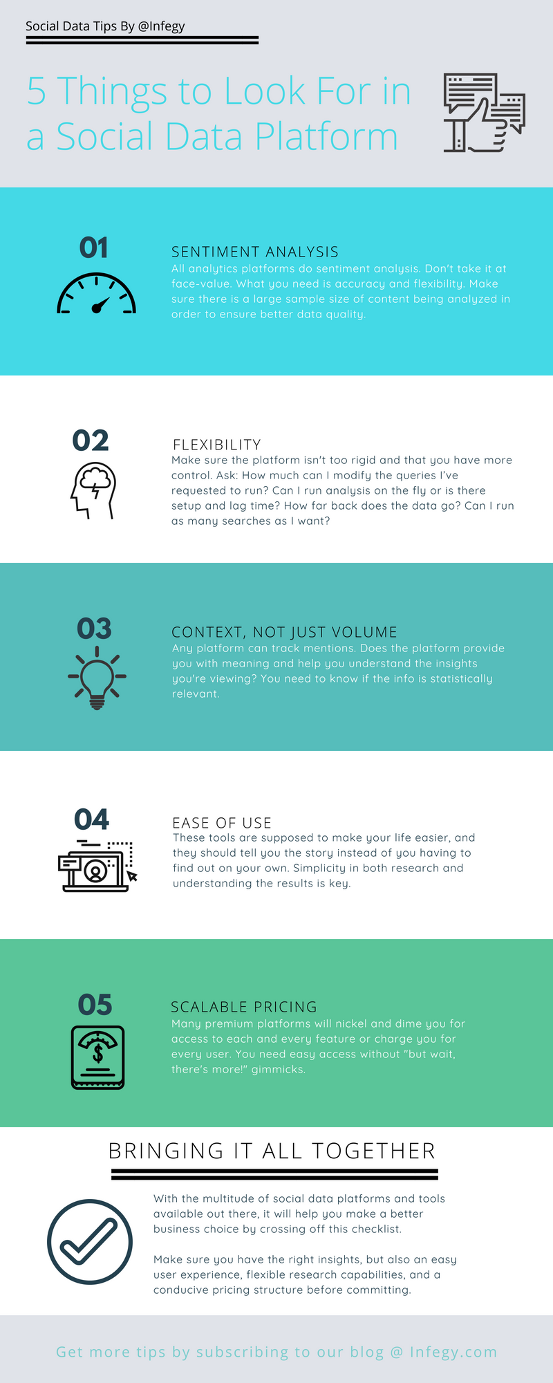 5 Things to Look For In a Social Data Platform INFOGRAPHIC FINAL