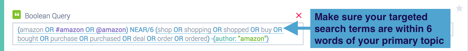 Amazon near operator query