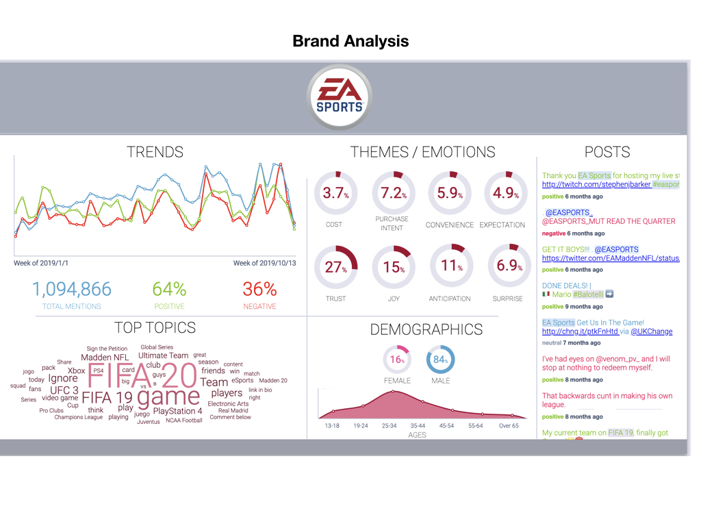 brand analysis report with social listening