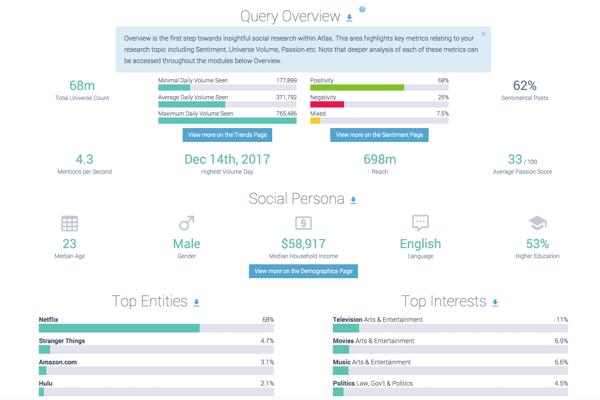 NETFLIX brand overall overview