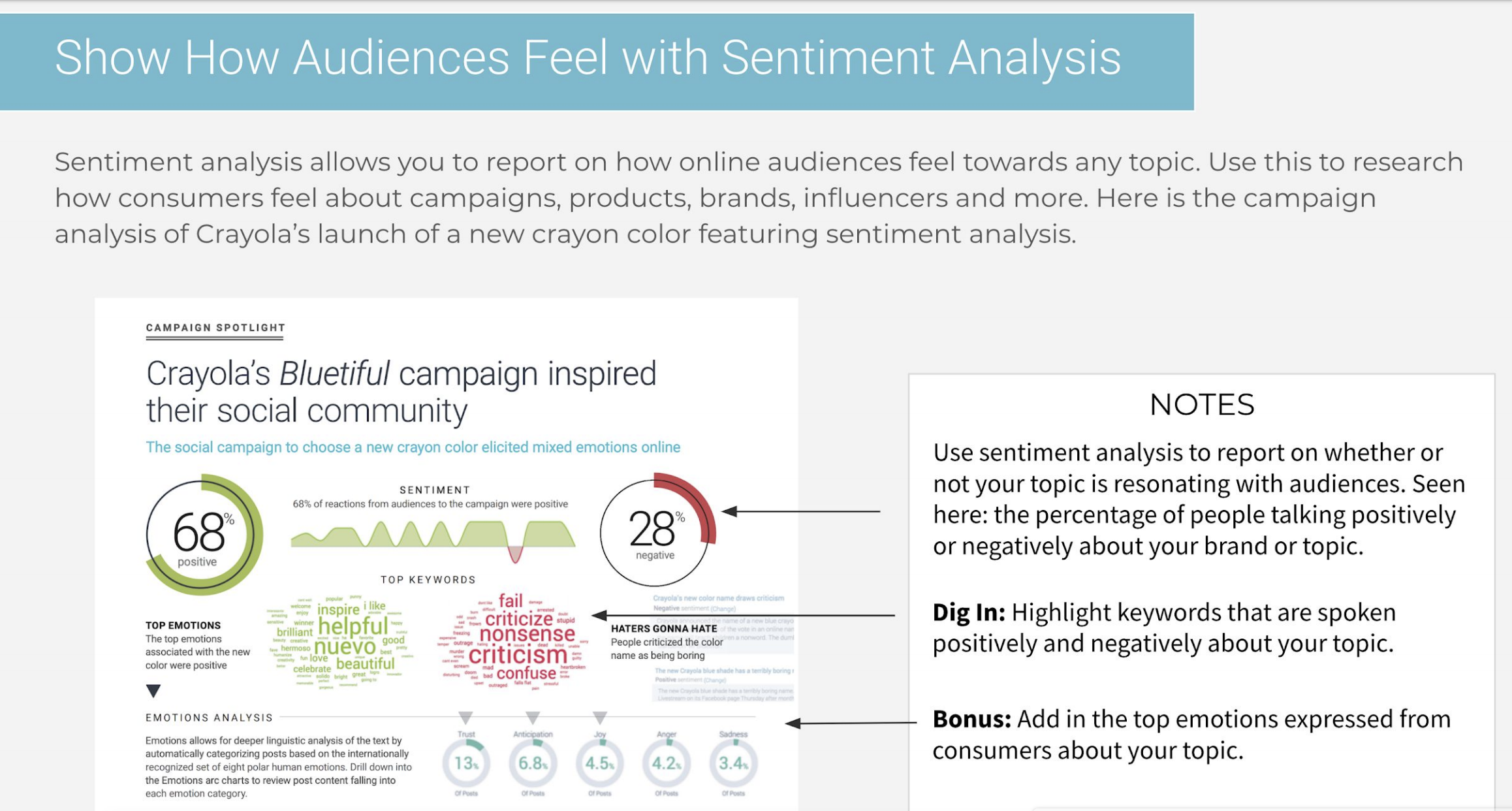 sentiment analysis of advertising campaign using social listening