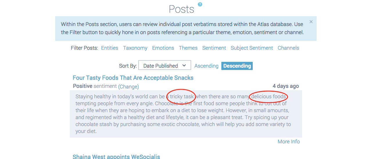 healthy food post example annotated