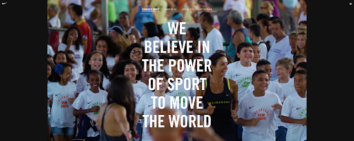 nike website we believe