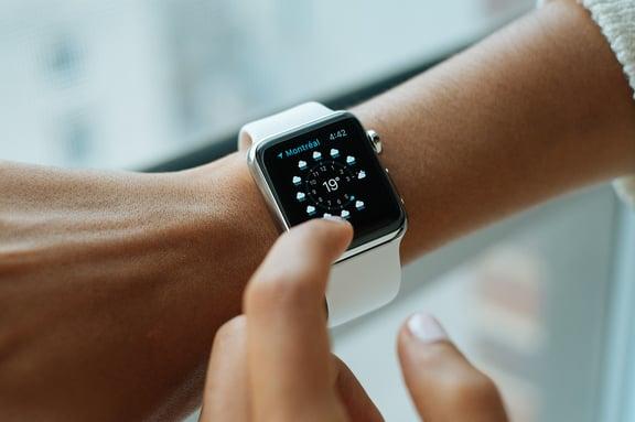 apple watch on wrist wearable tech social listening
