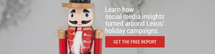Learn how social media insights turned around Lexus' holiday campaigns
